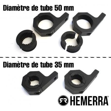 Paire de fixations pour tube (3,5 / 5 cm)