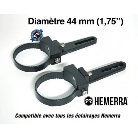 """Paire de fixations pour tube - 44 mm (1,75"""")"""