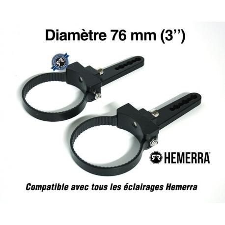 """Paire de fixations pour tube - 76 mm (3"""")"""